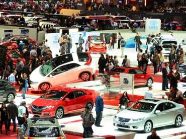 GENEVA - MARCH 12: Various makes and models of cars are on display at the 82nd International Motor Show on March 12, 2012 in Geneva, Switzerland